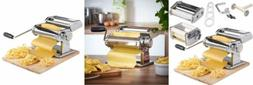 VonShef 3 in 1 Stainless Steel Pasta Roller Maker Machine wi