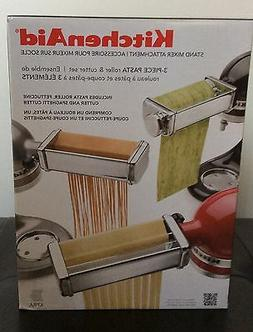 KITCHENAID 3 PIECE PASTA ROLLER & CUTTER SET MIXER ATTACHMEN