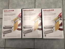 KitchenAid 3-Piece Pasta Roller Cutter Set KSMPRA Stand Mixe