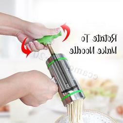 9 Mode Card Stainless Steel Manual Noodle Pasta Maker Press
