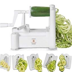 Brieftons 5-Blade Spiralizer : Strongest-and-Heaviest Duty V