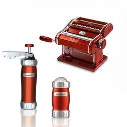 MARCATO Atlas 150 Color Home-made Pasta Machine + Biscuits C