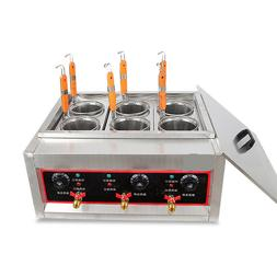 Techtongda Commercial 6 Holes Noodles Cooker Machine Electri