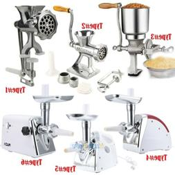 Electric/Manual Meat Grinder Mincer Sausage Filler Chopper P