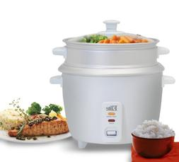 Elite Gourmet 8-Cup Rice Cooker with Steam Tray