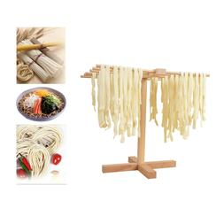 Homemade Pasta Drying Rack Hanging Stand Wood Noodle Pressin