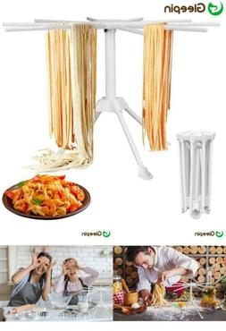 Homemade Pasta Drying Rack With 10 Bar Handles Collapsible,