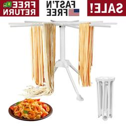 Homemade Pasta Drying Rack With 10 Bar Handles Collapsible F