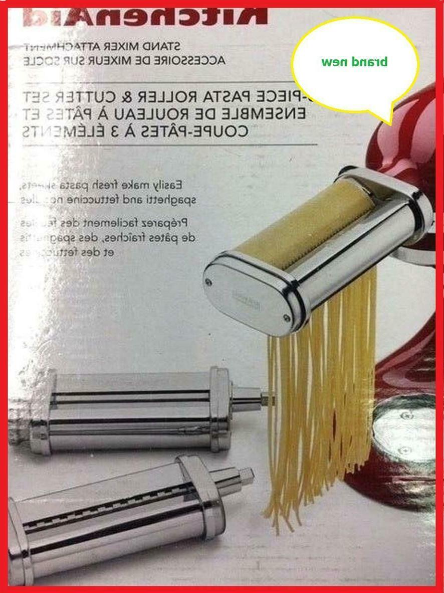 3 piece pasta roller and cutter attachment