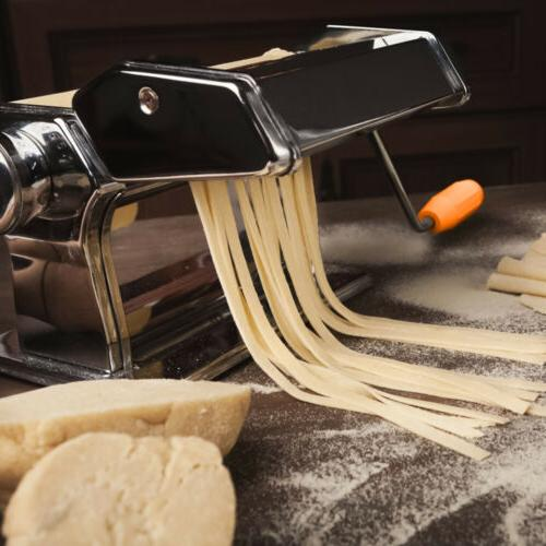 Stainless Steel Roller Manual Pasta Makers Adjustable Thickness Setting