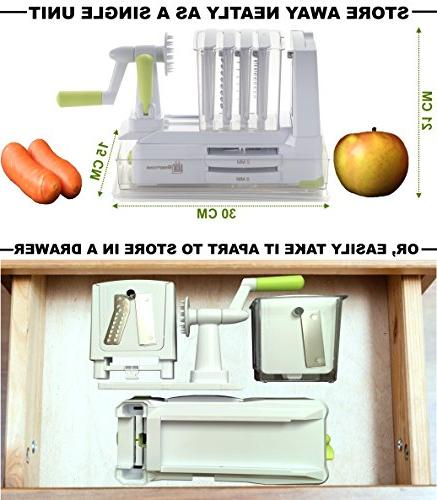 Brieftons 7-Blade Strongest-and-Heaviest Duty Vegetable Spiral Best Maker With Lid, Caddy Ebooks