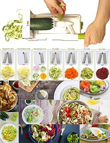 Brieftons Duty Vegetable Best Veggie Maker for With Container, Lid, Blade Caddy 4 Ebooks