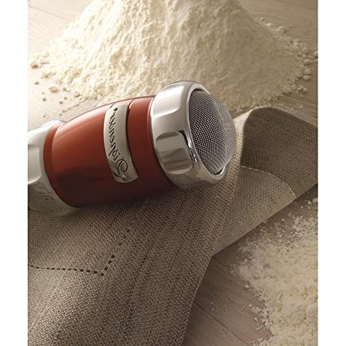 """Marcato Flour Duster Shaker, Made 2.5"""" Red"""