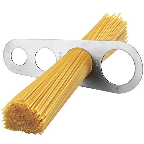 VonShef 3-in-1 Stainless Steel Pasta with 3 Cut Press Table Top Clamp and Pasta Measuring