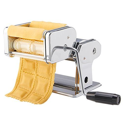 VonShef 3-in-1 Stainless Pasta Maker Cut Table Clamp Pasta