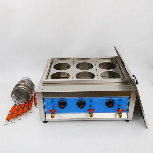 Commercial 4/6 Holes Cooker Cooking Machine Pasta Makers