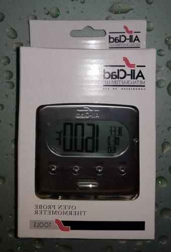 digital stainless steel lcd oven probe thermometer