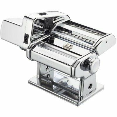 electric pasta machine silver with motor set