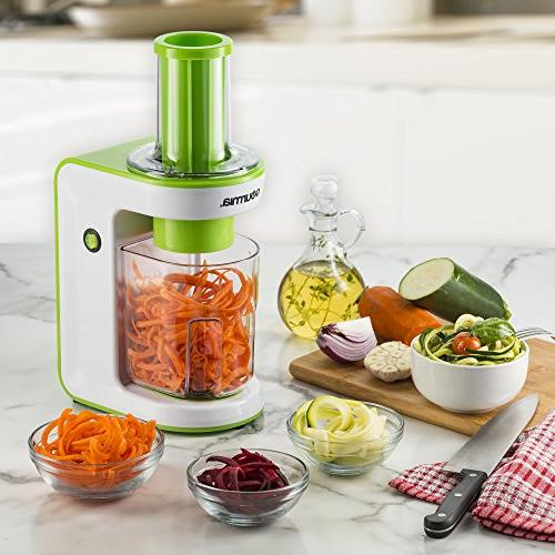 Gourmia Electric Spiralizer with Book, 110V Green