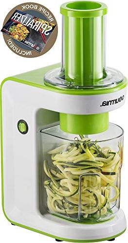 gourmia ges580 electric spiralizer blades recipe book 110v g