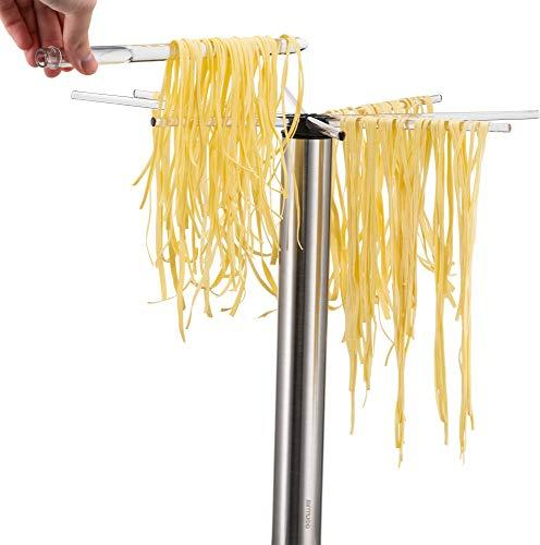 Gourmia Pasta Drying Rack Rotating Foldable and Wand, Anti Slip
