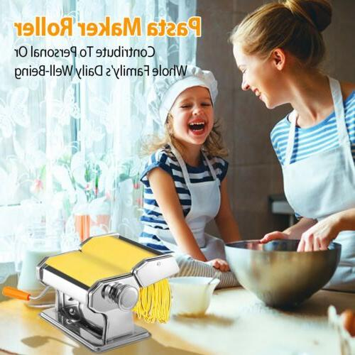 Stainless Pasta Makers with 6 Adjustable Setting
