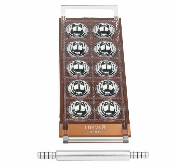 New Marcato Ravioli Tablet Copper Mini Stainless Steel Rolli