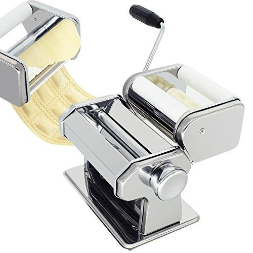 CHEFLY Pasta Set All in 9 Thickness Fresh Lasagne Dough Roller Cutter P1802
