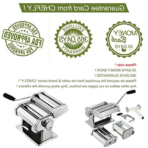 CHEFLY Set All 9 Thickness Settings Fresh Homemade Lasagne Press Cutter Noodle Machine P1802