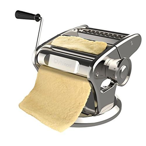 bonVIVO Steel Maker Machine With Finish, Noodle Maker Innovative Base, For The Homemade Italian-Style Pasta