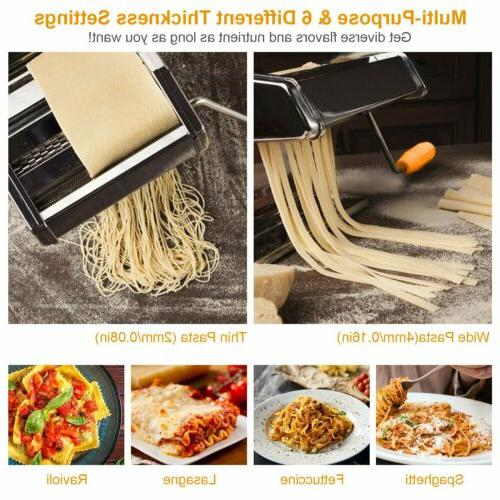 Stainless Roller Manual Pasta 6 Adjustable Setting
