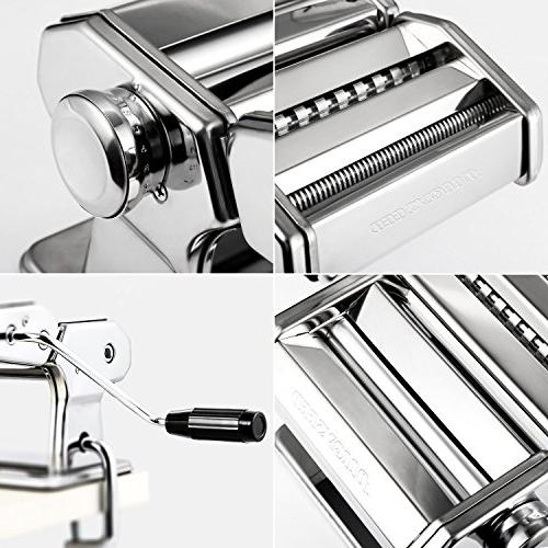 Alloyseed Stainless Steel Homemade Machine with Adjustable Pasta Hand Crank