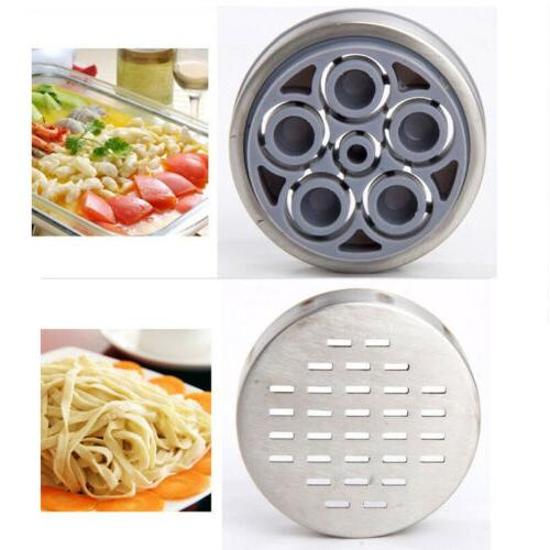 Stainless Steel Noodles Press Pasta Maker with 5 Noodle