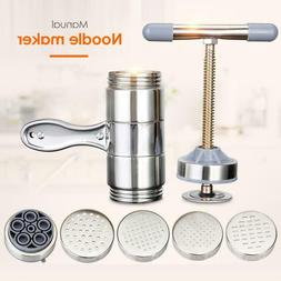 Manual Stainless Steel Noodle Maker Press Pasta Cutter Kitch
