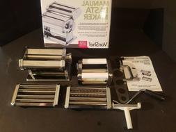 NEW IN BOX VonShef Pasta Maker 3 in 1 Pasta Machine Stainles