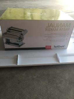 New VonShef Manual Pasta Maker 4 Pasta Cutters & Ravioli Att