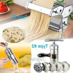 "New Pasta Maker 7"" Noodle Making Machine Dough Cutter Roller"
