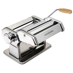 Ovente PA518S Vintage Stainless Steel Pasta Maker, 180mm, Po