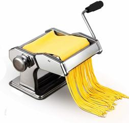 Pasta Machine, 150 Roller Manual Noodles Makers with 7 Adjus