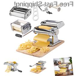 VonShef Pasta Maker, 3 in 1 Pasta Machine Stainless Steel, P
