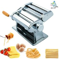 Pasta Maker Machine Hand Crank - Roller Cutter Noodle Makers