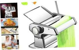 Pasta Maker Machine, Stainless Steel Manual Noodle Makers Wi