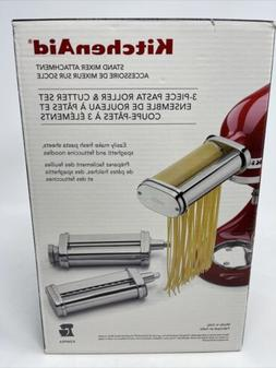 KitchenAid 3 Piece Pasta Roller and Cutter Attachment Set wi