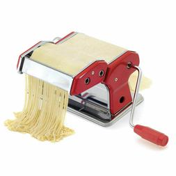NORPRO RED & POLISHED CHROME SINGLE HANDLE PASTA MAKER W/ AC