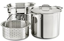 All-Clad Stainless Steel 8 Quart MultiCooker Pot With Lid
