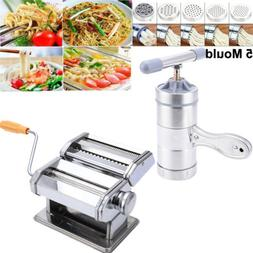 Stainless Steel Manual Noodle Maker Fresh Pasta Spaghetti Ho