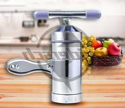 Stainless Steel Manual Noodles Press Machine Pasta Maker wit