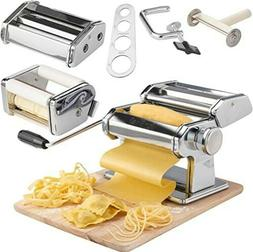 VonShef 3in1 Stainless Steel Pasta Maker- 3 Cut Press Blade