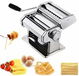 CHEFLY Sturdy Homemade Pasta Maker All in one 9 Thickness Se