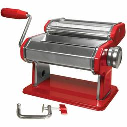 Weston Manual Pasta Machine, 6-Inch, Red